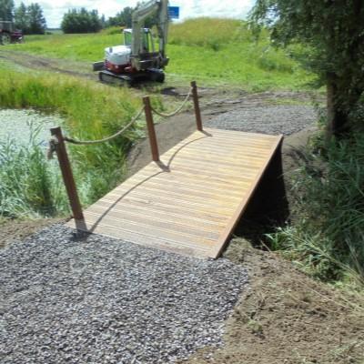 Drijfhout Bruggen aanleg